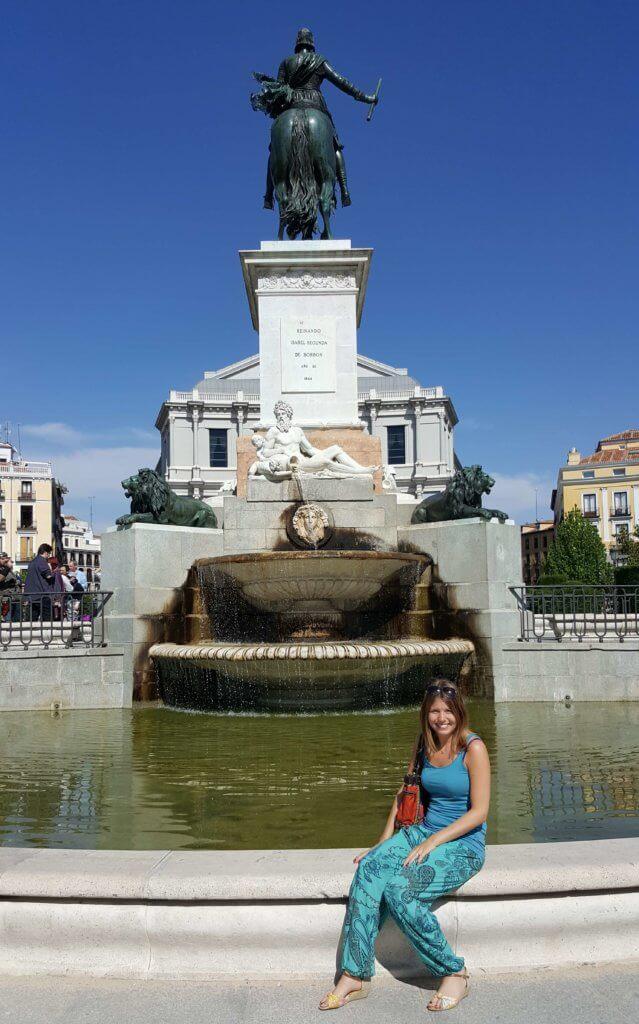 Das Denkmal Philipp IV am Plaza de Oriente