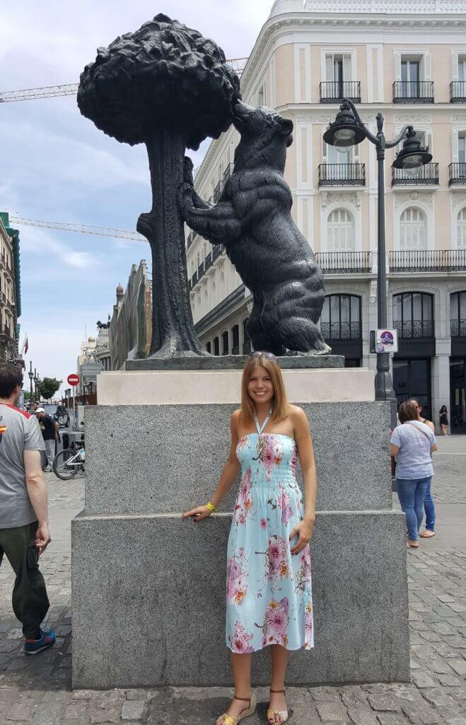 Die Statue El Oso y el Madroño an der Puerta del Sol