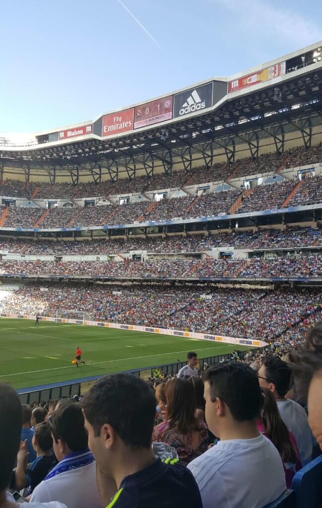 Im Estadio Santiago Bernabéu