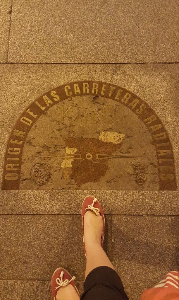 Der Null-Kilometerstein an der Puerta del Sol