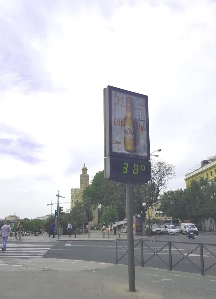 38 °C Anfang Juni in Sevilla