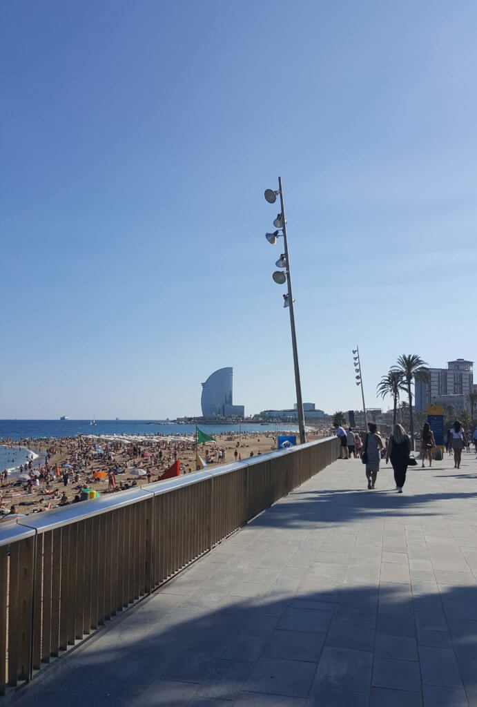 Am Playa de la Barceloneta