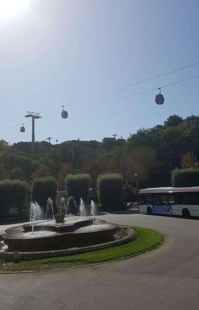 Die Seilbahn Telefèric de Montjuïc