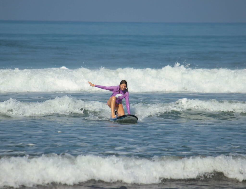 Meine ersten Surfversuche