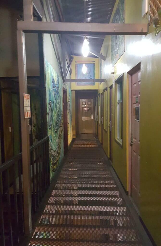 Im Hostel Pangea in San José