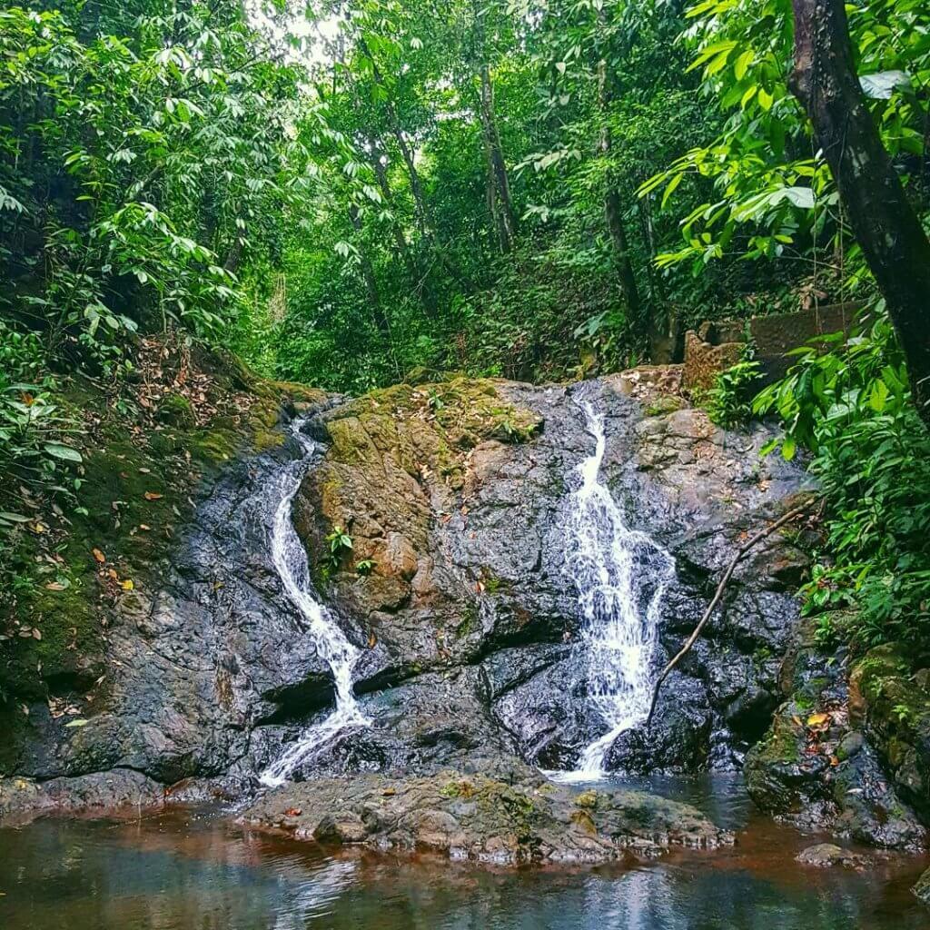 Zwei kleine Wasserfälle in der Nähe der Auffangstation