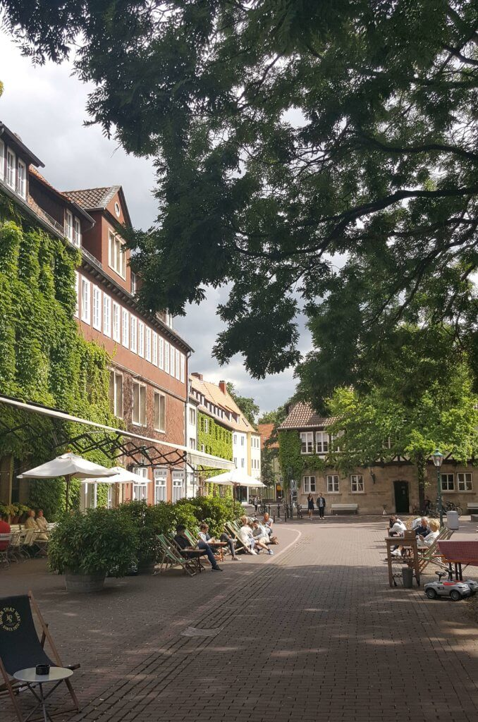 Ein schönes Café in der Altstadt von Hannover