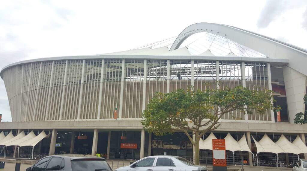 Das Moses-Mabhida-Stadion in Durban. Es wurde für die Fußball-Weltmeisterschaft 2010 erbaut.