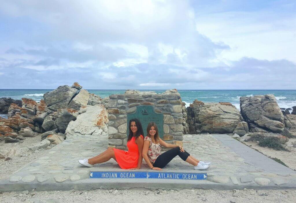 Cape Agulhas - Der südlichste Punkt Afrikas. Dort treffen der Indische und der Atlantische Ozean aufeinander
