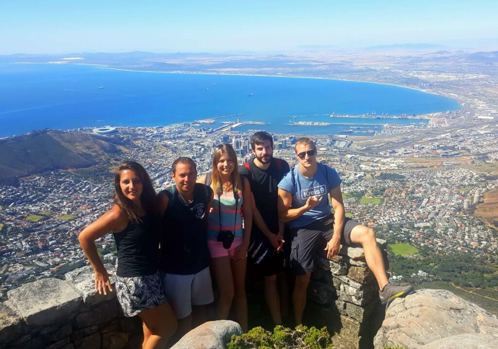 Geschafft - erfolgreich den Tafelberg erklommen
