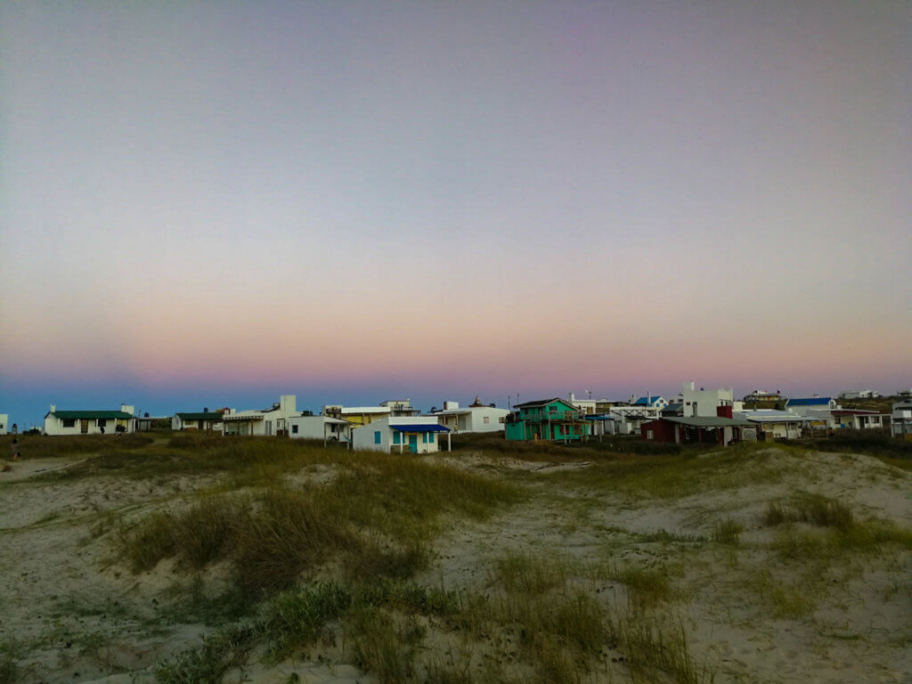 Cabo Polonio zu Sonnenuntergang