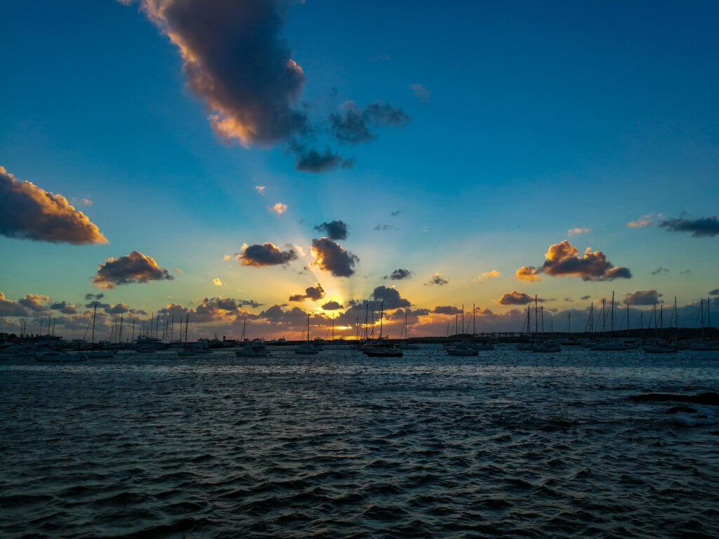 Sonnenuntergang in Punta del Este
