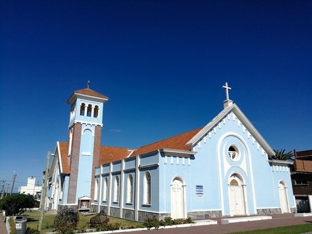 blaue Kathedrale in Punta del Este