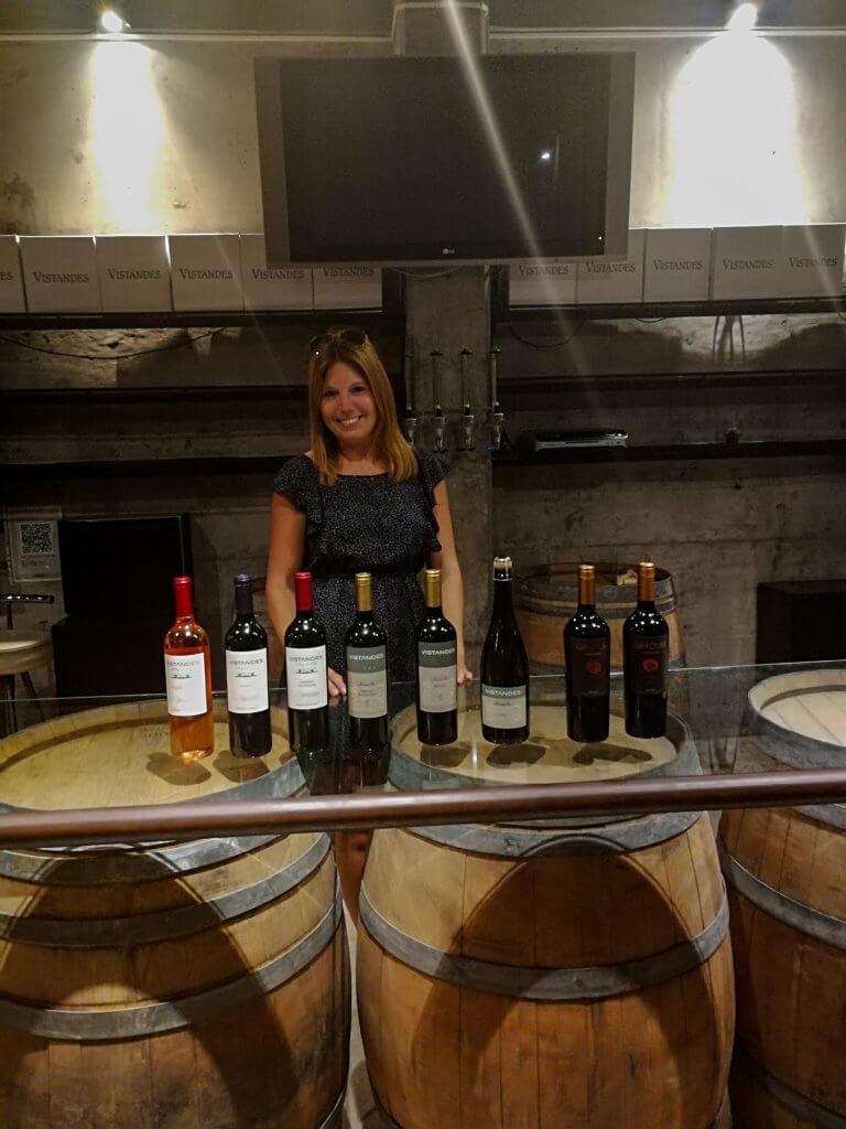 bei der Weinverköstigung