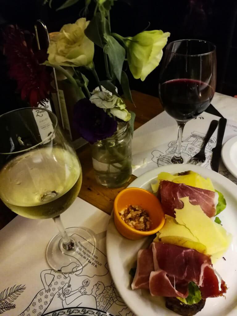 Dinner mit Wein