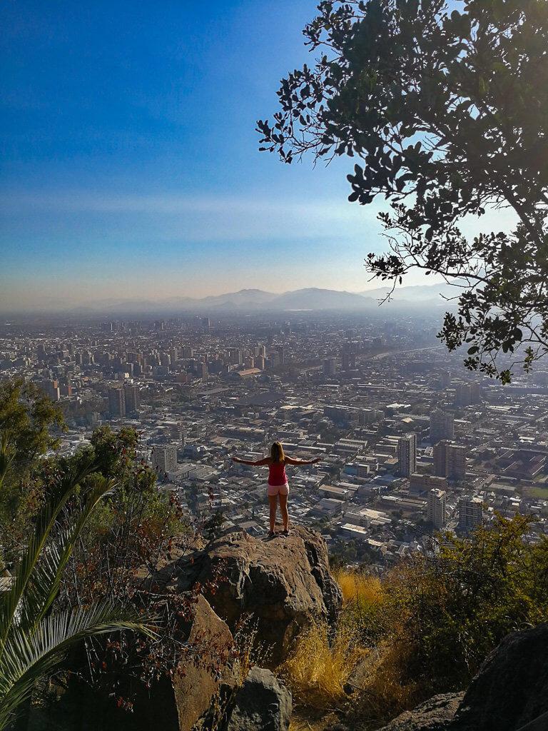 an der Spitze des Cerro San Cristoba
