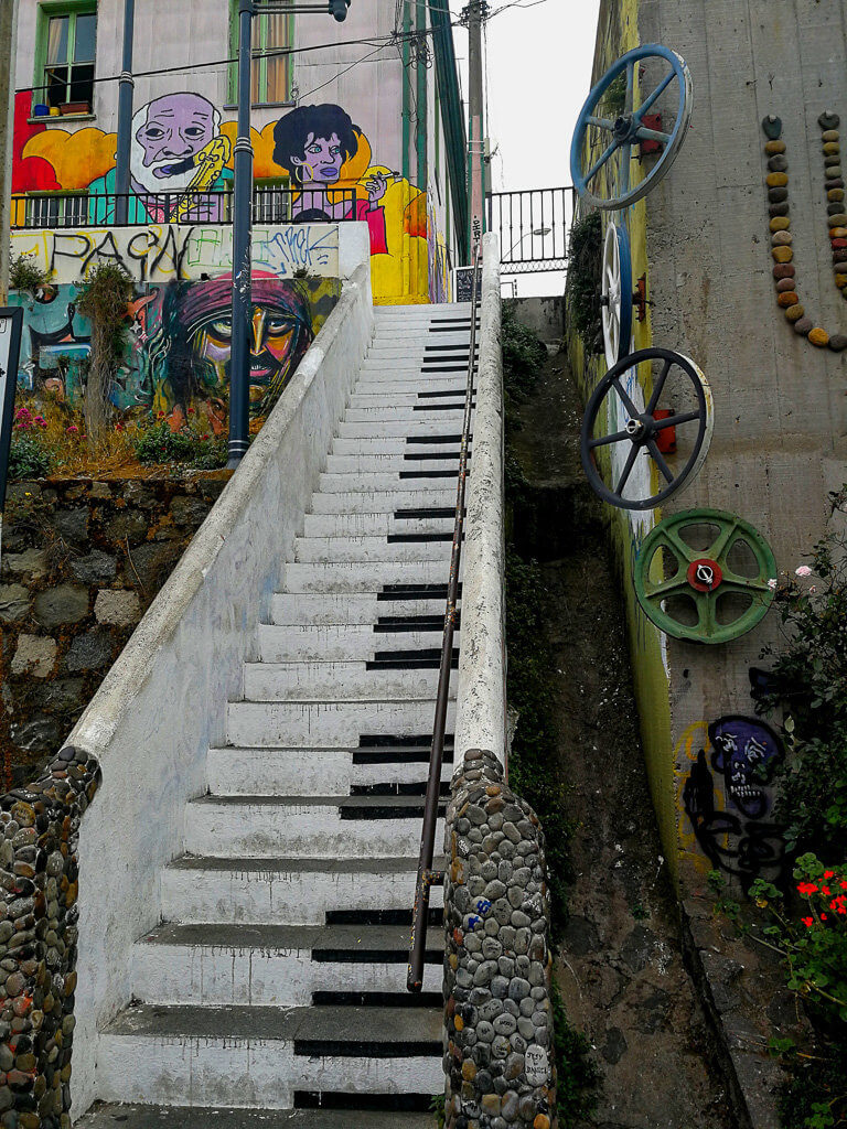 Piano Stairs in Valparaíso