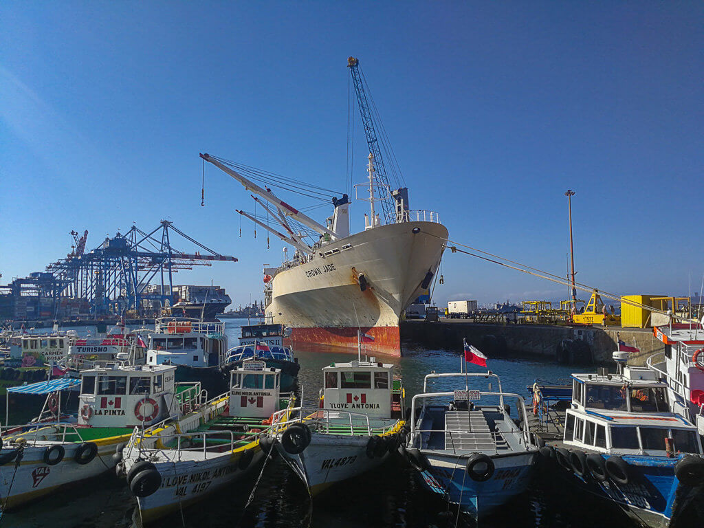 Hafen in Valparaíso