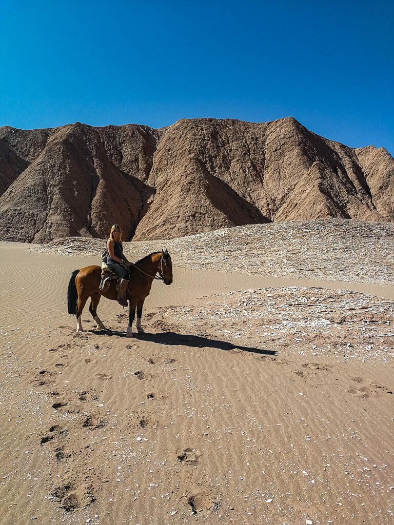 Reiten durch das Valle de la Muerte