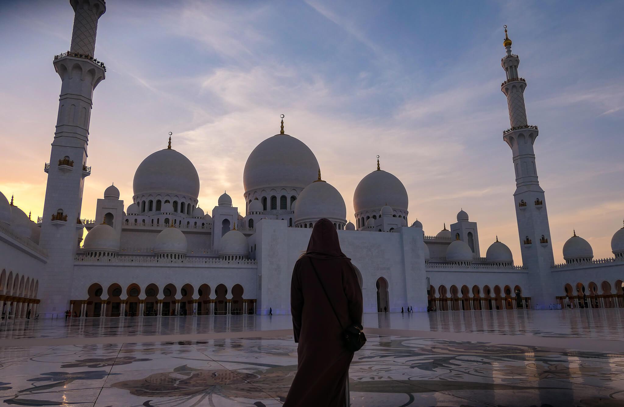 in meiner Abaya