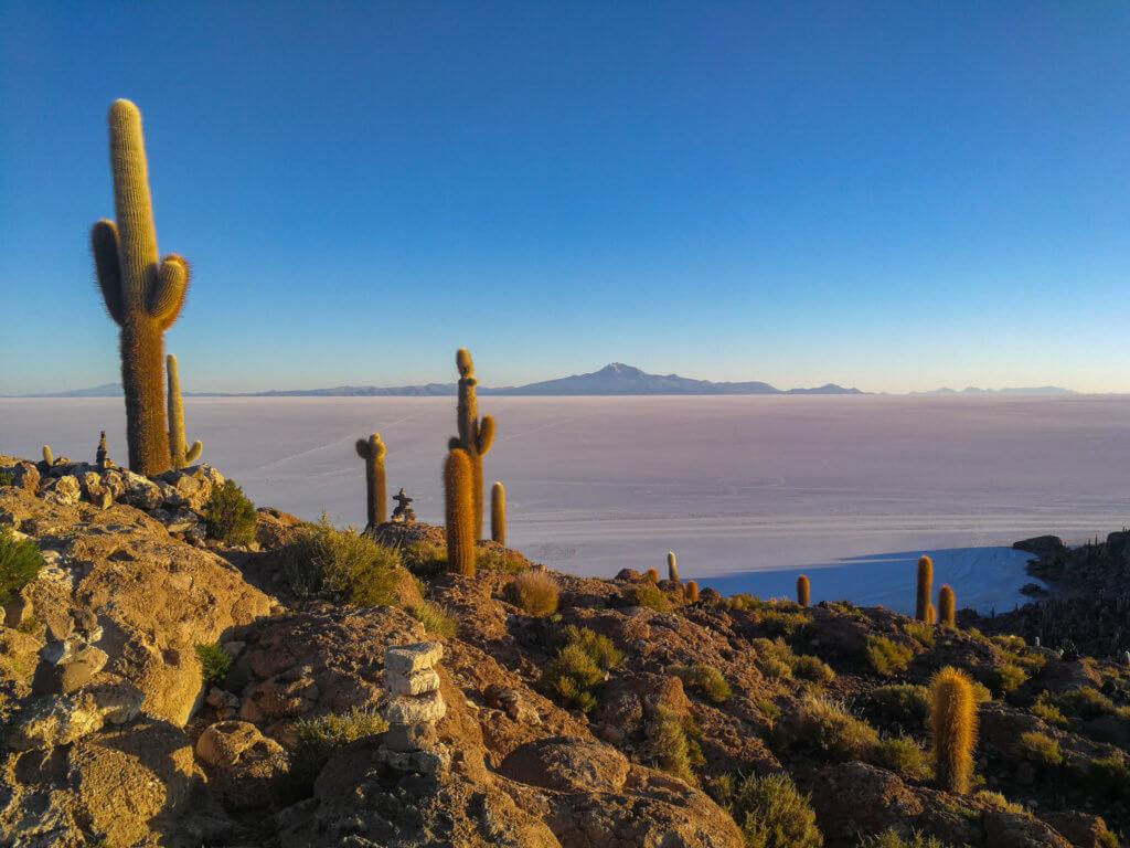Sonnenaufgang in der Salzwüste