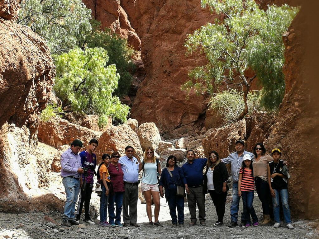 mit der bolivianischen Familie in Tupiza