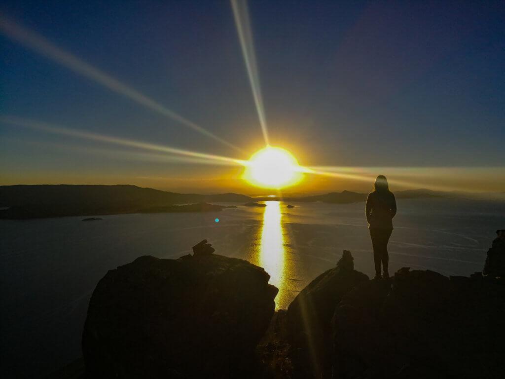 Sonnenuntergang über dem Titicacasee