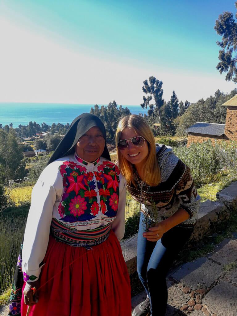 mit meiner Gastmutter Felicitas