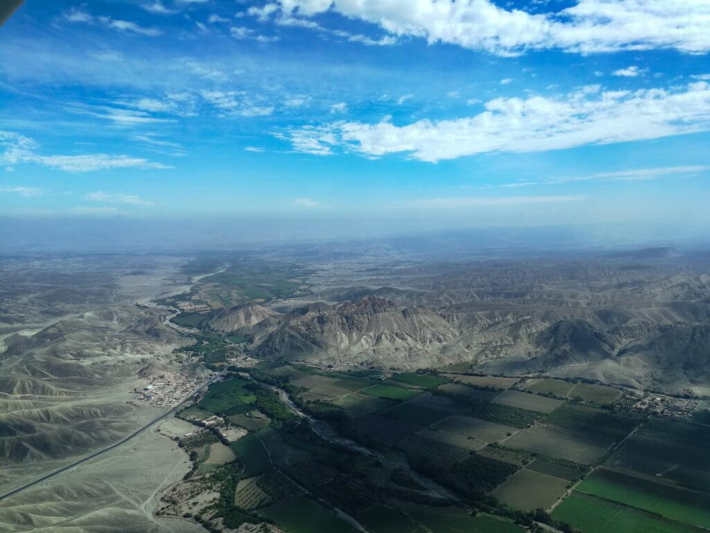 Luftaufnahme aus dem Flugzeug