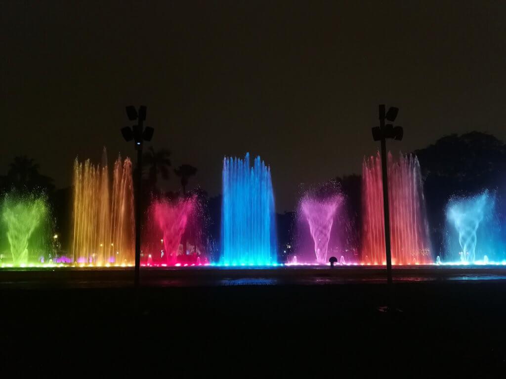 Lichtershow in Lima