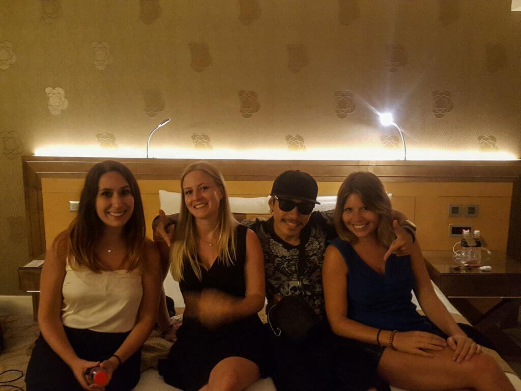mit Freunden im Marina Bay Sands