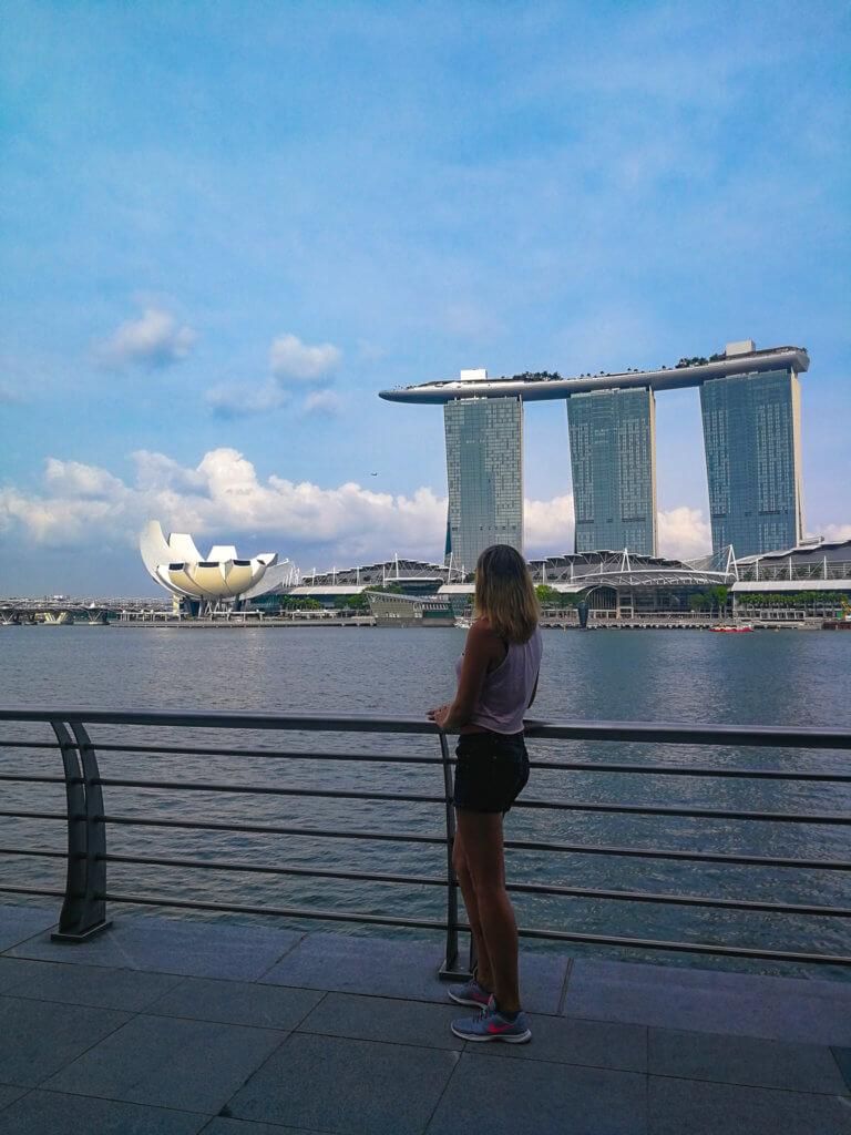 Blick auf das Marina Bay Sands
