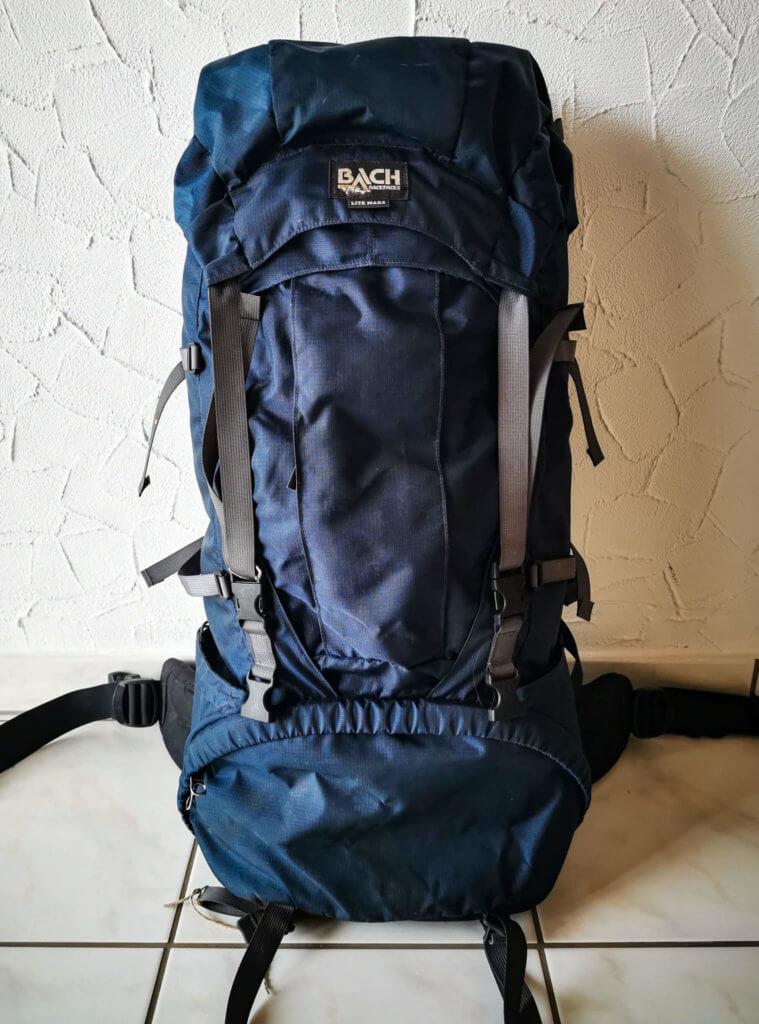 Mein Backpack-Rucksack - inzwischen etwas mitgenommen von der Reise