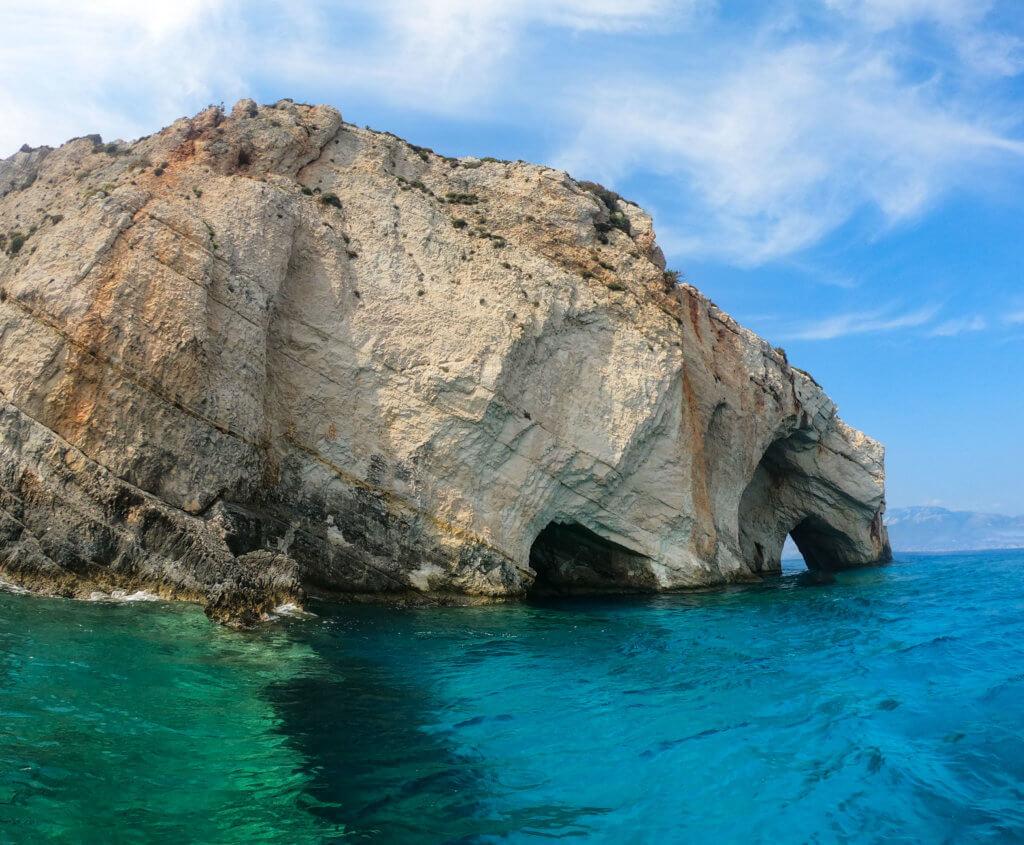 Die Blue Caves auf Zakynthos