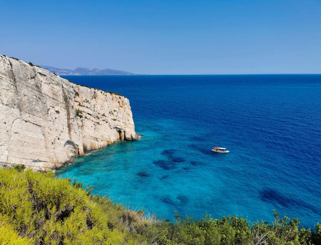 Blick auf den Ozean am Skinari Kap - der nördlichsten  Spitze von Zakynthos
