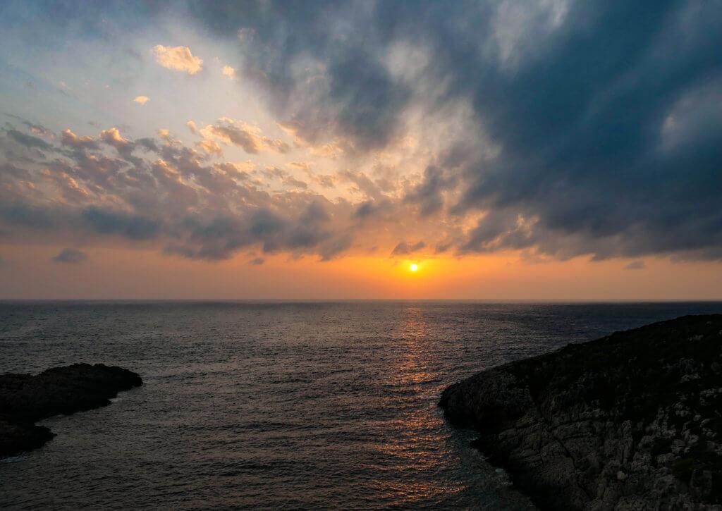 Sonnenuntergang in Korakonisi